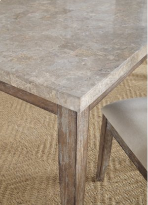 """Franco White Marble Top Table 42'' x 70"""" x 31''"""