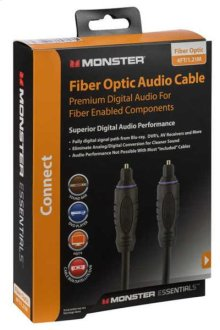Monster Essentials Fiber Optic Audio Cable - 8 feet / Fiber Optic Cable