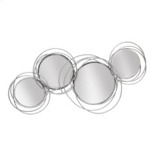 Looped Silver 4 Circle Mirrors, Wb