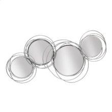 Looped Silver 4 Circle Mirrors, Wb