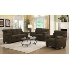 Clemintine Brown Two-piece Living Room Set
