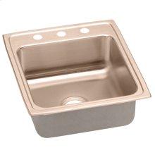 "Elkay CuVerro Antimicrobial Copper 19-1/2"" x 22"" x 10-1/8"", Single Bowl Drop-in Sink"