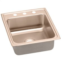 "Elkay CuVerro Antimicrobial Copper 19-1/2"" x 22"" x 10-1/8"", Single Bowl Drop-in Sink"
