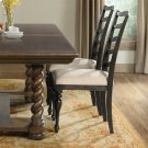 Cassidy - Upholstered Ladderback Side Chair - Charred Oak Finish Product Image