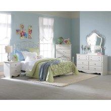5 PC Bedroom - Dresser, Mirror, Chest, Twin Bed