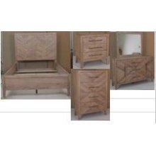Auburn White-washed Bench