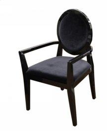 A&X Lyle - Transitional Black Fabric High Gloss Chair