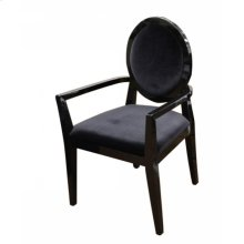A&X Lyle - Transitional Black Fabric High Gloss Chair