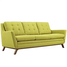 Beguile Upholstered Fabric Sofa in Wheatgrass