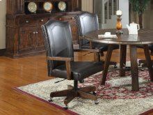 Arm Chair Wi/castors and Bonded Leather