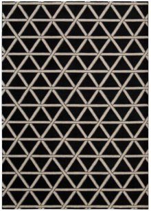 Hollywood Shimmer Ki103 Onyx Rectangle Rug 5'3'' X 7'5''