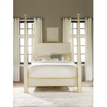 Abstract Bed - Queen, Painted Antique Cream With Gold Leaf Detailing.