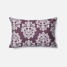 Plum / Silver Pillow