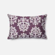 Plum / Silver Pillow