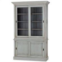 "Hudson 88"" Bookcase w/ 2 Sliding Doors"