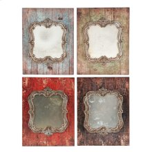 S/4 Mirror,Antiqued Frame