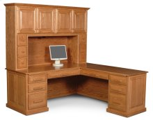 Classic L-Shape Desk, Classic L-Shape Desk, Left Return, Plain Back