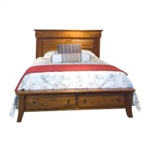 Jamestown Square Queen Bed with Footboard Drawer Unit