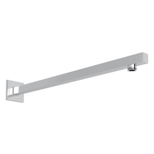 "Polished Chrome 17 3/16"" Modern Square Wall Mount Shower Arm"
