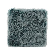 Lamb Fur Pillow Large Teal Snow