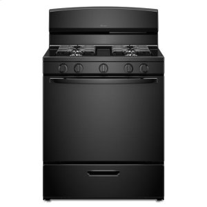 30-inch Gas Range with EasyAccess(TM) Broiler Door - black - BLACK