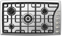 """Stainless Steel 36"""" Gas Cooktop - Side Control"""