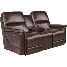 Oscar PowerRecline La-Z-Time Full Reclining Loveseat W/ Middle Console