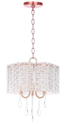 Harlyn 3 Light 13.5-INCH Dia Chandelier - Clear / Copper Shade Color: Clear
