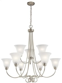 Bixler 9 Light Chandelier Brushed Nickel