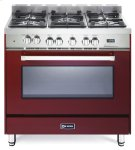 "Burgundy 36"" Dual Fuel Single Oven Range - 'N' Series Product Image"