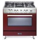 "Burgundy 36"" Dual Fuel Single Oven Range - 'N' Series Product Image"