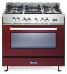 """Burgundy 36"""" Dual Fuel Single Oven Range - 'N' Series"""