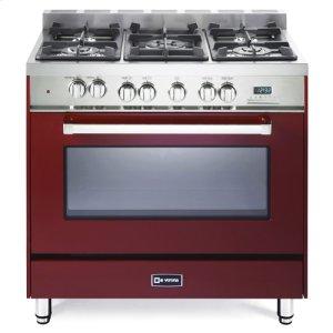 """VeronaBurgundy 36"""" Dual Fuel Single Oven Range - 'N' Series"""