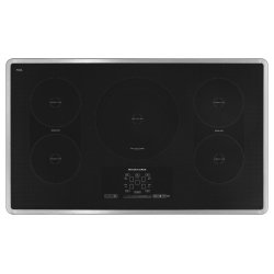 "36"" Induction Cooktop with 5 Elements, Touch-Activated Controls and Power Slider - Stainless Steel"