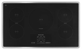"""36"""" Induction Cooktop with 5 Elements, Touch-Activated Controls and Power Slider - Stainless Steel"""