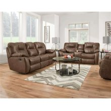 Double Reclining Sofa with Drop Down Table