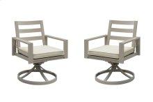 Emerald Home Sheridan Swivel Rocker Dining Chair-spuncrylic-camel(2/ctn) Od1077-22-05