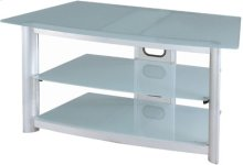"""3-tier TV Stand, Silver Chrome/fro. Glass, 43.25""""LX22""""WX20""""H"""