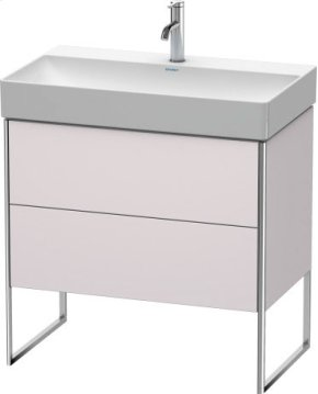 Vanity Unit Floorstanding, White Lilac Satin Matt Lacquer