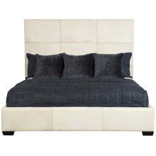 King-Sized Jasper Panel Bed in Espresso