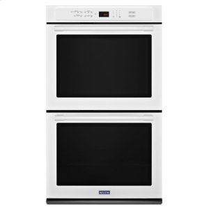 27-Inch Wide Double Wall Oven With True Convection - 8.6 Cu. Ft. - WHITE