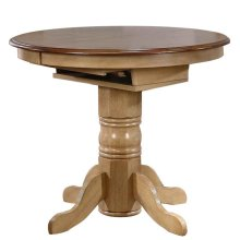 DLU-BR4260CB-PW  Round or Oval Extendable Pub Table