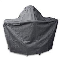 Blaze Kamado on Cart with Round Shelf Cover