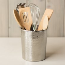 Utensil Holder in Brushed Nickel