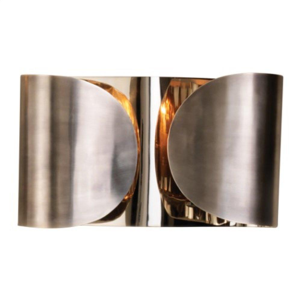 Folded Sconce-Antique Silver/Nickel-HW