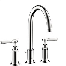 Chrome Montreux Widespread Faucet with Lever Handles