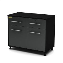 Base Cabinet - Pure Black and Charcoal