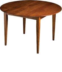 """Gaston 48"""" Dining Table w/ One 18"""" Leaf"""