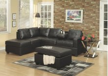 Faux Leather Sofa Sectional W/ Free Ottoman