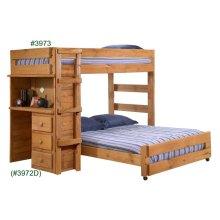 Twin/Full Loft Bed w/Desk Unit
